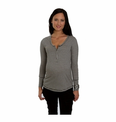 SOLD OUT Everly Grey Jaden Striped Henley Maternity Top