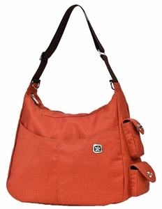 Fleurville Orange Re-Run Hana Diaper Bag