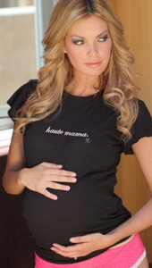 "SOLD OUT  ""Haute Mama"" Maternity T-Shirt by 2 Chix"