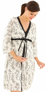 SOLD OUT Jasmine Maternity and Nursing Robe by Belabumbum
