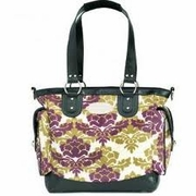 TEMPORARILY OUT OF STOCK JJ Cole Collections Norah Diaper Bag Tote - Boysenberry Fleur
