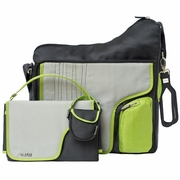 SOLD OUT JJ Cole Collections System 180 Bag-Green Stitch Diaper Bag