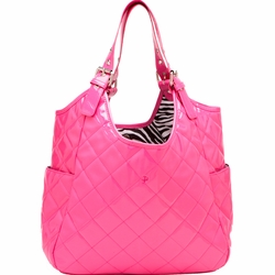 JP Lizzy Quilted Satchel Diaper Bag - Watermelon