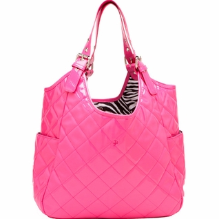 SOLD OUT JP Lizzy Quilted Satchel Diaper Bag - Watermelon