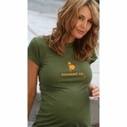 "SOLD OUT ""Knocked Up""-Olive Maternity T-Shirt by 2 Chix"