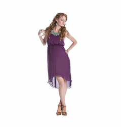 SOLD OUT Lilac Avery Aymmetrical Hem Chiffon Maternity Dress