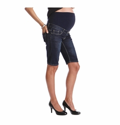 Lilac Maternity Denim Bermuda Shorts