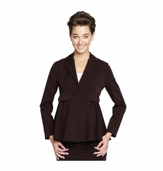 SOLD OUT Maternal America Audrey Peplum Maternity Blazer