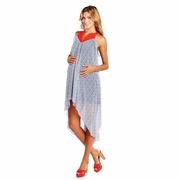 SOLD OUT Maternal America Chiffon Asymmetrical Hem Maternity Dress