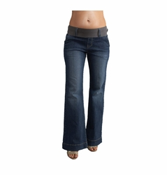 SOLD OUT Maternal America Megan Trouser Jeans - Blue Wash