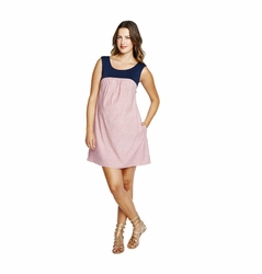 SOLD OUT Maternal America Seersucker Babydoll Maternity Dress