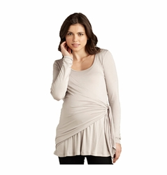 SOLD OUT Maternal America Side Tie Wrap Maternity Top