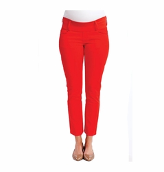 SOLD OUT Maternal America Skinny Maternity Ankle Jeans - Cherry Red