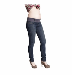 SOLD OUT Maternal America Skinny Maternity Jeans - Dark Wash