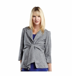 SOLD OUT Maternal America Summer 3/4 Sleeve Maternity Front Tie Blazer