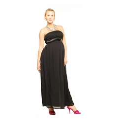 SOLD OUT Maternite Long Strapless Tube Maternity Dress