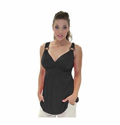 SOLD OUT Maternite Wood Detail O-Ring Maternity Tank Top