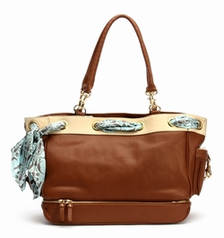SOLD OUT  Nest Grommet Diaper Bag, Toffee
