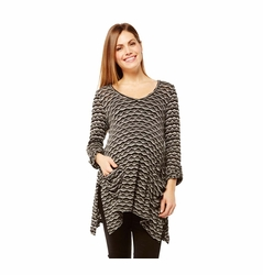 SOLD OUT Nom Harlow Asymmetrical Maternity Tunic