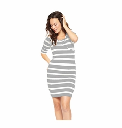 NOM Maternity Nursing Surplice 3/4 Sleeve Dress