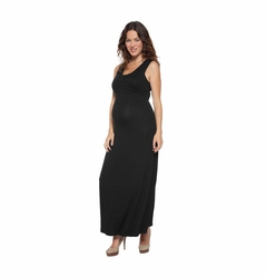 SOLD OUT NOM Maternity Nursing Surplice Maxi Dress