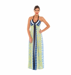 SOLD OUT Olian Cary Halter Maternity Maxi Dress