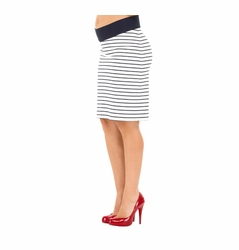 SOLD OUT Olian Gena Ponte Striped Maternity Skirt