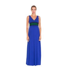 SOLD OUT Olian Jaci Crochet Trim Sleeveless Maternity Maxi Dress