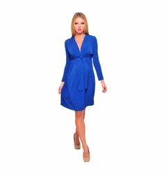 SOLD OUT Olian Kora Long Sleeve Front Tie Maternity And Nursing Dress