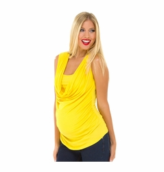 SOLD OUT Olian Mandy Modal Sleeveless Drape Front Maternity Top