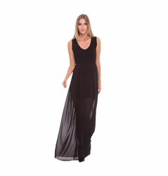 SOLD OUT Olian Paula Chiffon Maternity Maxi Dress