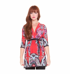 SOLD OUT Olian Roxanne Arabesque Print Maternity Top