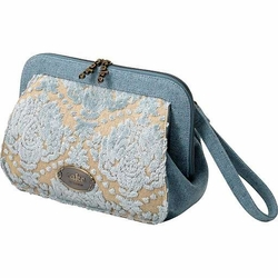 SOLD OUT Petunia Pickle Bottom Juniper Berry Crumb Cake Cameo Clutch Diaper Bag