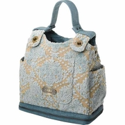 SOLD OUT Petunia Pickle Bottom Juniper Berry Crumb Cake Society Satchel Diaper Bag