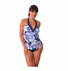 SOLD OUT Prego Maternity Swimsuit Trimkini - Blue Floral