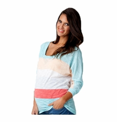 SOLD OUT Ripe Maternity Color Block Slub Knit Tee