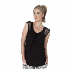 SOLD OUT Ripe Maternity Jules Mesh Cap Sleeve Top