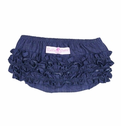 SOLD OUT RuffleButts Denim Bloomer -Diaper Cover