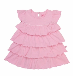SOLD OUT RuffleButts Pink Baby Doll Tiered Ruffled Dress