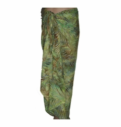 SOLD OUT Santiki Full Sarong - Green Palm Leaf