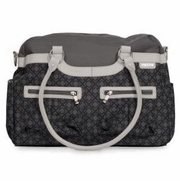 SOLD OUT Satchel Diaper Bag - Charcoal Trellis by JJ Cole Collections