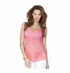 SOLD OUT Seraphine Brandi Boho Print Woven Maternity And Nursing Strappy Top