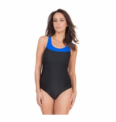 Seraphine Marine Colorblock Rackerback One Piece Maternity Swimsuit