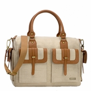 SOLD OUT Sofia Diaper Bag - Natural Canvas by Storksak