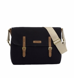 SOLD OUT Storksak Ashley Canvas Messenger Diaper Bag - Black
