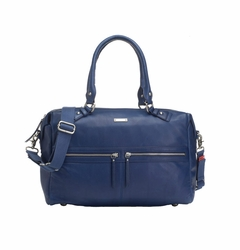 SOLD OUT Storksak Caroline Luxury Leather Diaper Bag - Navy