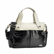 SOLD OUT Storksak Kate Colorblock Diaper Bag - Stone And Black