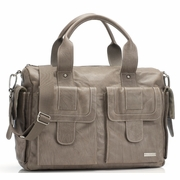Storksak Sofia Leather Diaper Bag - Taupe