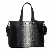 SOLD OUT Storksak Tote Diaper Bag - Black Python