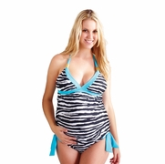 SOLD OUT Tammy Zebra Maternity Tankini by Maternal America
